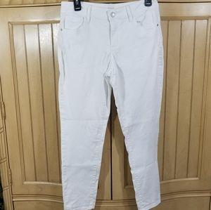 a.n.a Skinny Ankle White Jeans, sz 29/8